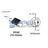 AOD4186, N-FET, TO252AA,    Marking:D4186
